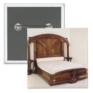 Art Nouveau bed, 1900 15 Cm Square Badge