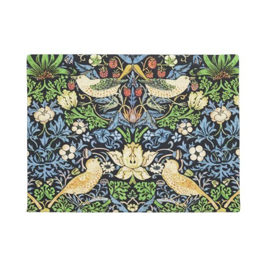 Art Nouveau Bird and Flower Tapestry Pattern Doormat