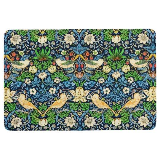 Art Nouveau Bird and Flower Tapestry Pattern Floor