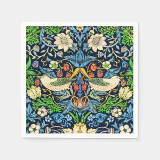 Art Nouveau Bird and Flower Tapestry Pattern Paper Napkin