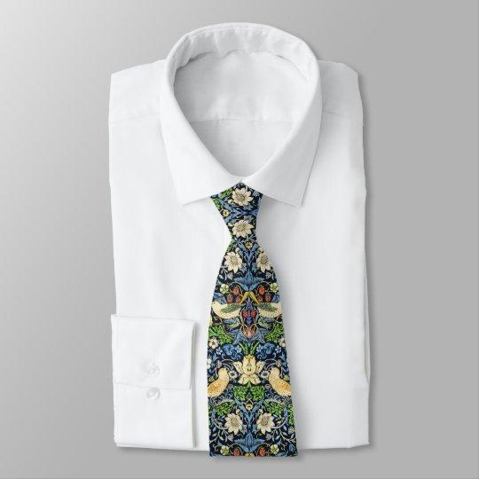 Art Nouveau Bird and Flower Tapestry Pattern Tie