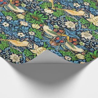 Art Nouveau Bird and Flower Tapestry Pattern Wrapping Paper