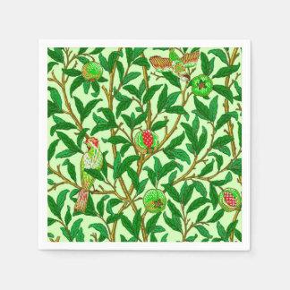 Art Nouveau Bird and Pomegranate, Lime Green Disposable Napkins