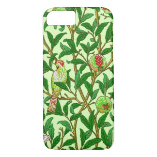 Art Nouveau Bird and Pomegranate, Lime Green iPhone 8/7 Case