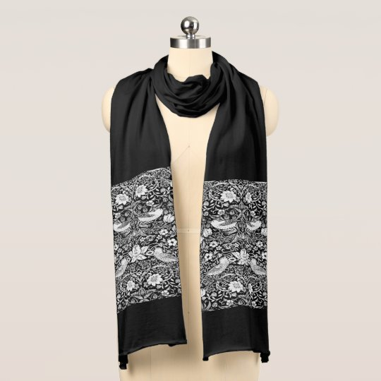 Art Nouveau Bird & Flower Tapestry, Black &