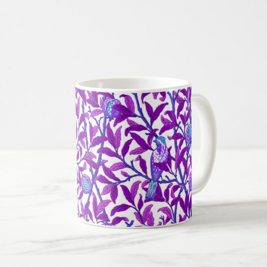 Art Nouveau Bird & Pomegranate, Amethyst Purple Coffee