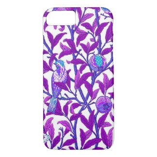 Art Nouveau Bird & Pomegranate, Amethyst  Purple iPhone 8/7 Case