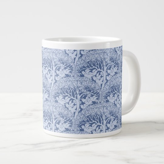 Art Nouveau Birds through Trees Pattern Jumbo Mug