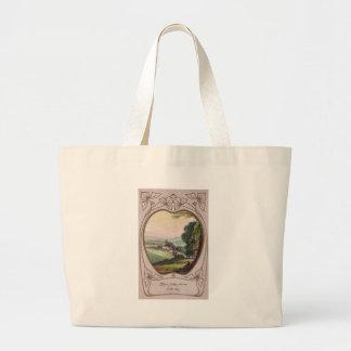 Art Nouveau Birthday Valley Vignette Tote Bags