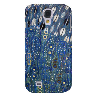 Art Nouveau Blue Gold Gustav Klimt Pattern Galaxy S4 Case