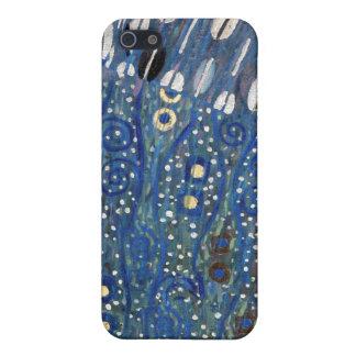 Art Nouveau Blue Gold Gustav Klimt Pattern iPhone 5 Covers