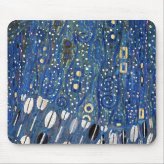 Art Nouveau Blue Gold Gustav Klimt Pattern Mouse Pad