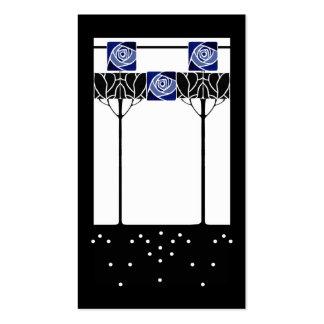 Art nouveau blue roses pack of standard business cards