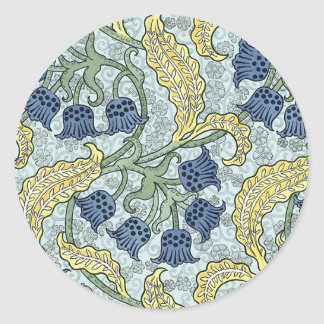 Art nouveau bluebells classic round sticker