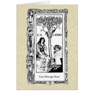 Art Nouveau Bookplate Card