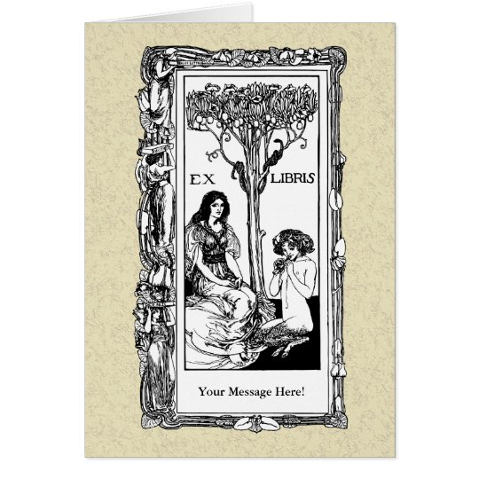 Art Nouveau Bookplate Card