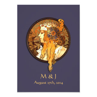 Art Nouveau Bride Wedding Invitation
