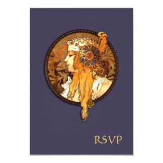 Art Nouveau Bride Wedding RSVP Card