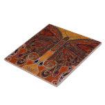 Art Nouveau Butterfly (painting) Large Square Tile