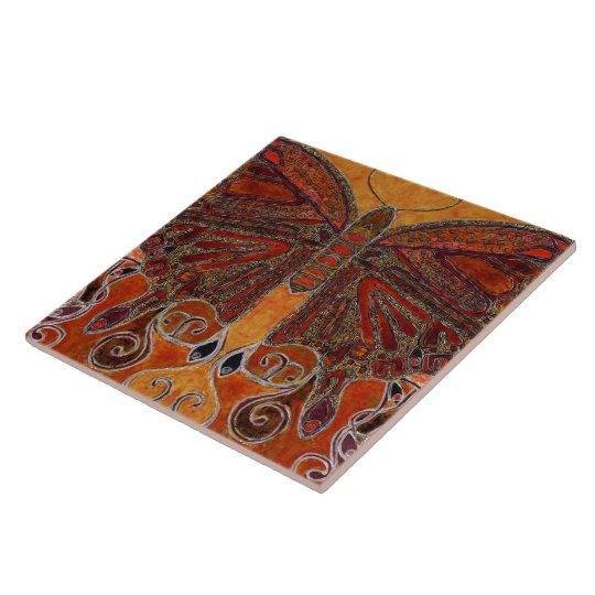 Art Nouveau Butterfly (painting) Tile