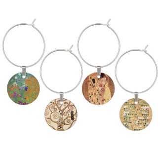 Art Nouveau by Klimt Wine Charm