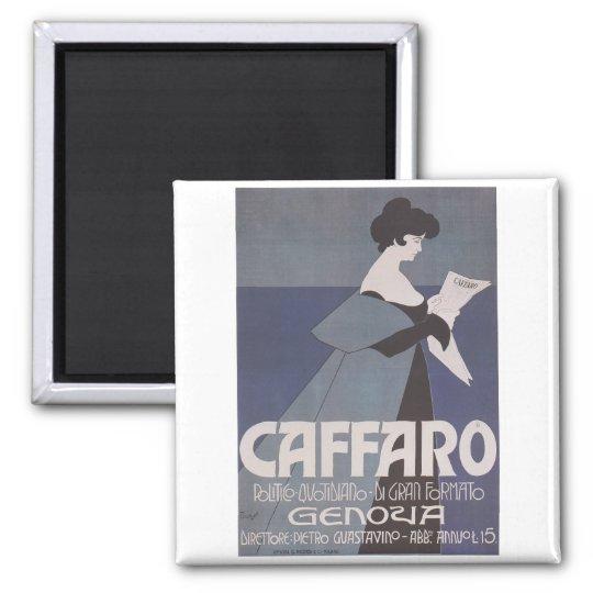 Art Nouveau ~ Caffaro Newspaper Magnet