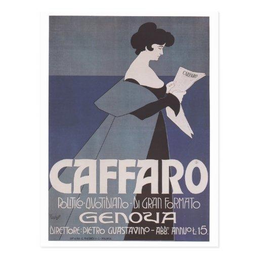 Art Nouveau ~ Caffaro Newspaper Post Card