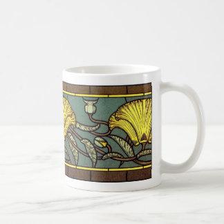 Art Nouveau 'California Poppy' Coffee Mug