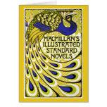 Art Nouveau Card: Peacock Illustration Greeting Card