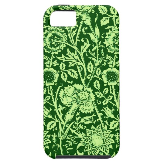 Art Nouveau Carnation Damask, Forest Green Case For