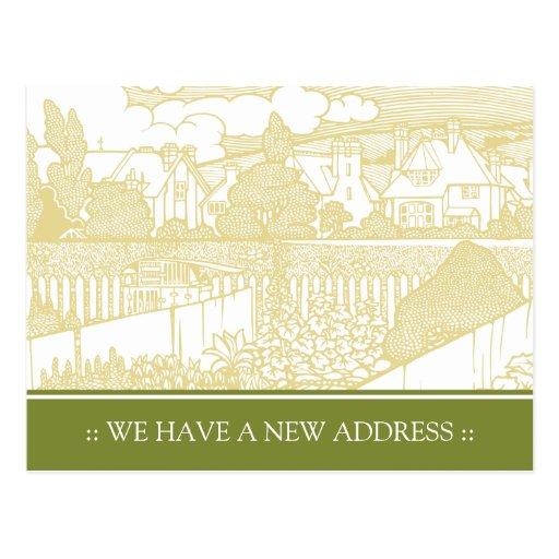 Art Nouveau Change of Address Postcard