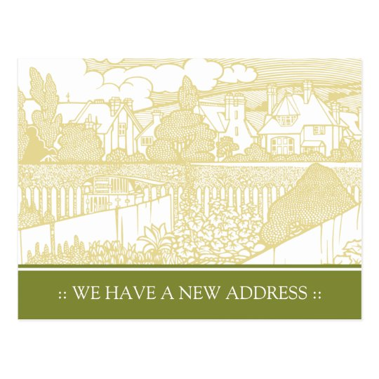 Art Nouveau Change of Address Postcard