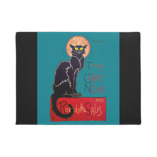 Art Nouveau Chat Noir Black Cat Doormat