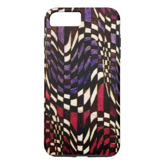 Art Nouveau Chequered Wave Pattern iPhone 7 Plus Case