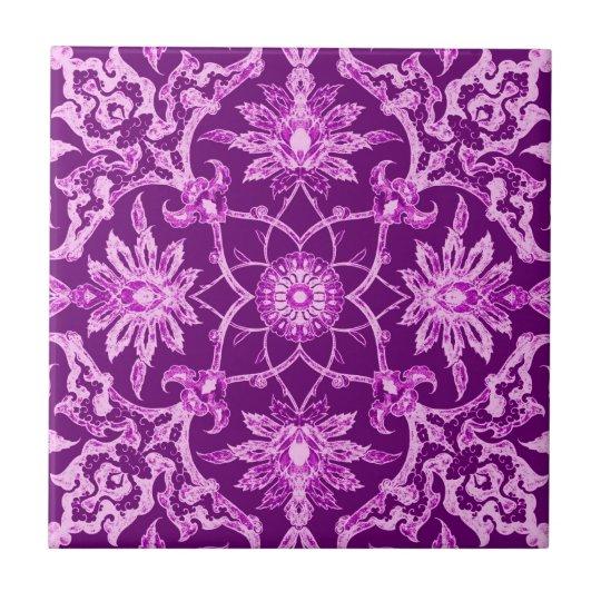 Art Nouveau Chinese Pattern - Amethyst Purple Small