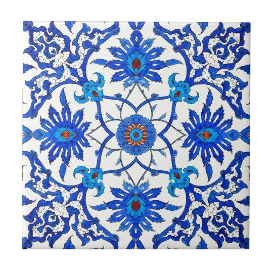 Art Nouveau Chinese Tile - Cobalt Blue &