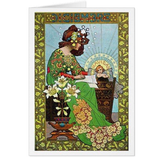 Art Nouveau Christmas Card