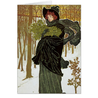 Art Nouveau Christmas Card