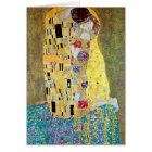 Art Nouveau Christmas, The Kiss by Gustav Klimt Card