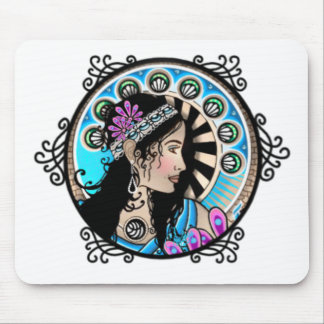 Art Nouveau Circle Painting Samaritan Woman Mouse Pad