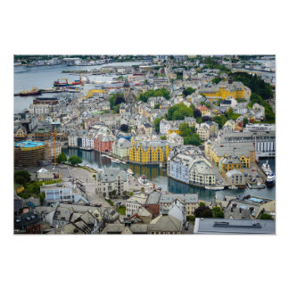 Art Nouveau city Alesund, Norway photo print