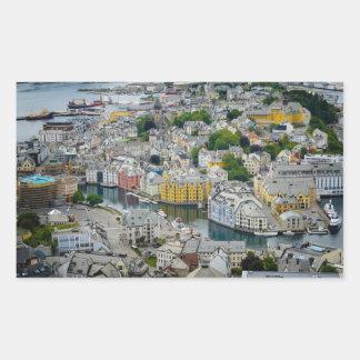 Art Nouveau city Alesund, Norway sticker