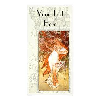 Art Nouveau Custom Photo Card
