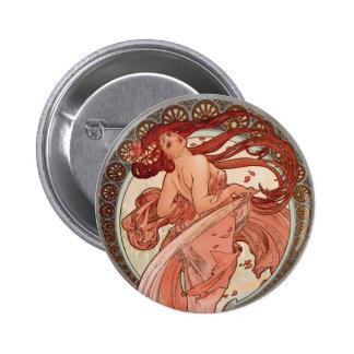 Art Nouveau - Dance 6 Cm Round Badge