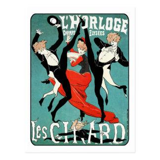 Art Nouveau Dance Image by Jules Cheret Postcard
