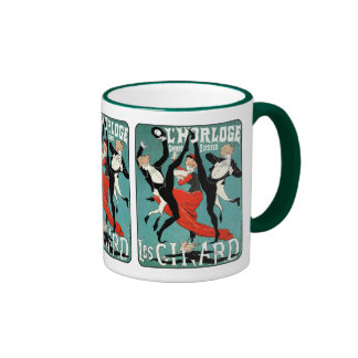 Art Nouveau Dance Image by Jules Cheret Ringer Mug