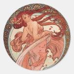 Art Nouveau - Dance Round Sticker