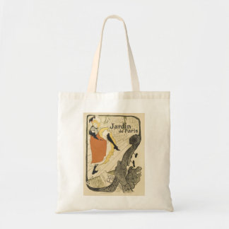 Art Nouveau Dancer Jane Avril, Toulouse Lautrec Budget Tote Bag