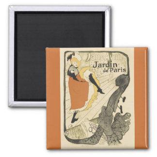 Art Nouveau, Dancer Jane Avril, Toulouse Lautrec Magnet