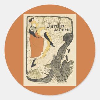 Art Nouveau, Dancer Jane Avril, Toulouse Lautrec Sticker